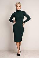 Женское теплое трикотажное платье-гольф. Размер S,M,L.