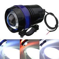 12v 30w мотоцикл и3 LED ангел глаз вождения туман пятно лампы привет/Лоу лампа-вспышка