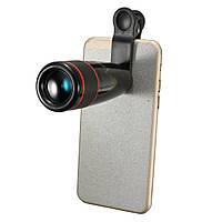 12X зум-клип на телефон телескопа телефото объектив камеры для iPhone Samsung смартфон HTC
