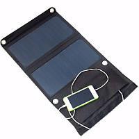 Elfeland® 14W 2.5A 5V Монокристалл Складная панель солнечных батарей банк питания с двойным портом USB