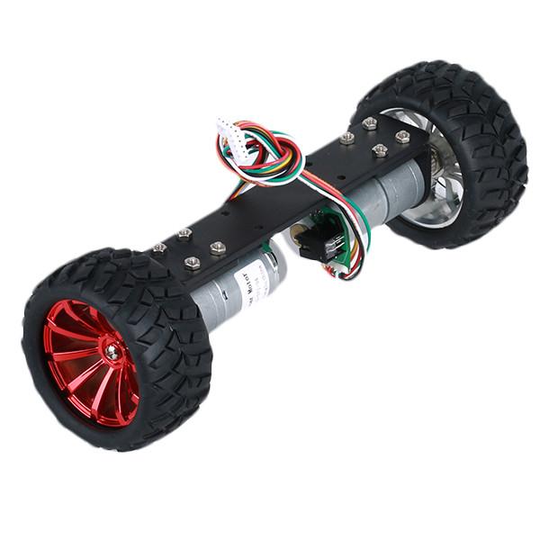 JGA25-360 12V 1.25W Два самобалансирующих шасси с металлическим каркасом Умный робот Авто DIY Набор-1TopShop