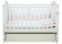 Детская кроватка для новорожденных Верес маятник белая
