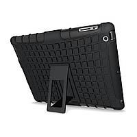Ударопрочный Анти Скид Kickstand Чехол Гибрид Soft Жесткий прочный Чехол Обложка для iPad 2/3/4