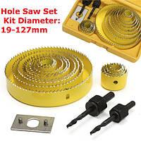 16 штук отверстие пилы резки устанавливается при помощи шестигранного ключа 19-127mm отверстие увидел комплект