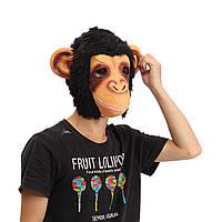 Горилла голова маска жуткое животное игрушка Хэллоуин костюм театр проп латекса партия