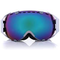Мотоцикл Спорт Сноуборд Лыжные очки Сферический Анти Туман УФ Двойной Объектив Синий Outdooors