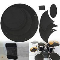 10шт бас-барабан выключить звук немой глушитель набор барабанов резиновая накладка практика