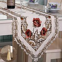 Пастырской цветок стол флаг бегуна скатерть с декором кисточкой домой свадебного банкета