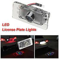 LED Лазер автомобиля лицензии номерного знака свет тень свет логотип проектор для Audi RS