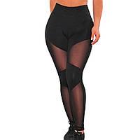 С высокой талией лосины эластичные сетки колготки черный сексуальный толчок вверх брюки Yoga женщины фитнес