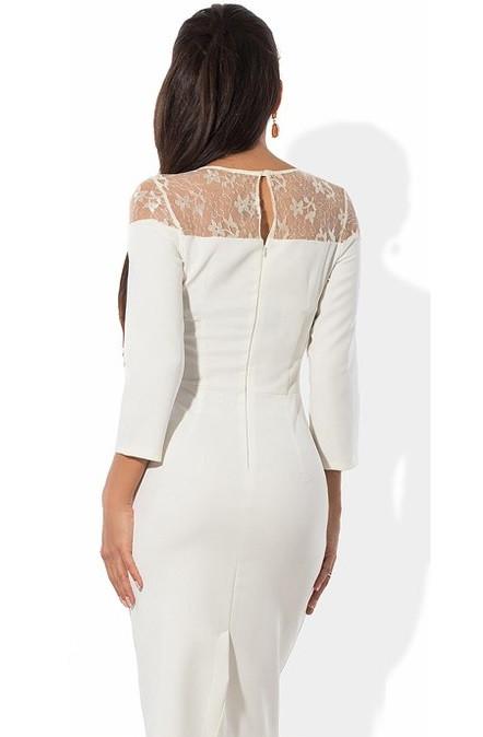 77a22c205f3e Белое платье футляр с оригинальным верхом