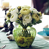 Искусственный шелк цветок пион букет 9 глав Цветы Кафе украшения Свадебные Свадебные партии Декор