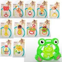 Детская игрушка - погремушка 35782, погремушка одноштучная (96 шт), размер от 9 до 17 см, пластмаса, для самых маленьких, игрушки для малышей