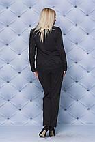 Большие размеры!!! Костюм  женский двойка с кружевом  черный, фото 2