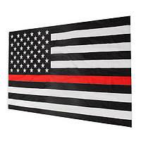 Тонкая красная линия полосы американского флага уважение и честь знамени правоохранительных люверсы