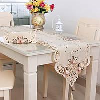 Четыре размера классическая вышивка цветок таблицы runnr настольный коврик свадьба домашнего декора
