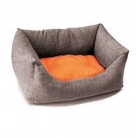 Диван для животного Dual бежевый/оранжевый 45x30 см