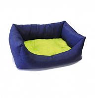Диван для животного Dual синий/салатовый 45x30 см