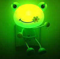 Управление освещением мультфильм LED свет ночи свет стены милый ребенок декор комнаты подарок лягушка кошка