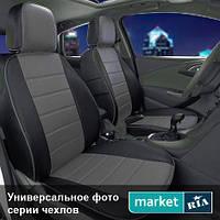 Чехлы для Ford Focus, Черный + Серый цвет, Экокожа