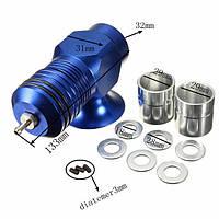 Выпускной клапан Bov Turbocharger 30 Psi Boost Blue Тип H-Rfl Алюминий