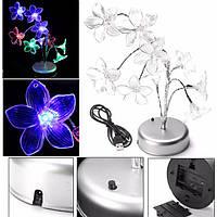 Цветок лилии ветка дерева ночной свет стол светильник украшения многоцветной новизны