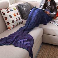Пряжи трикотажного хвост русалки одеяло ручной работы крючком бросить супер мягкий диван-кровать коврик спальный мешок