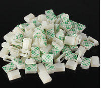 30шт пластик самоклеющаяся прямоугольник жильный кабель почтовый зажим для галстука зажим крепление