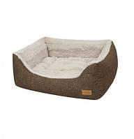 Диван для животного Soft Touch коричневый/бежевый 65x60x21 см