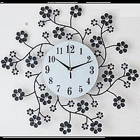 Настенные часы металлические, бесшумный ход стрелок, фото 1