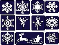 Трафареты для тату биотиту тату блестками новогодние