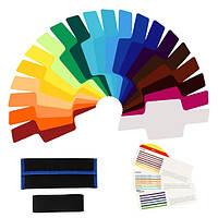 20шт цветной фильтр универсальный комплект с мешком для Canon Nikon Sony pentax Олимп вспышки speedlite