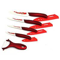 Цирконий Цветочная Печатный Кухня Керамические Фруктовый нож Set Kit 3 4 5 6 дюймов с Овощечистка красный и белый