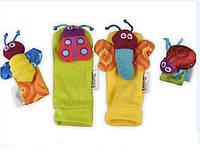 4шт младенца младенческой малышей милые животные погремушки нога искатели игрушки запястья руки руки носки набор