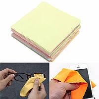 80pcs смешанный цвет протереть волокна ткань чистки полировки очки камеры телефона Экран компьютера пятна