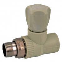 Вентиль радиаторный прямой 25-3/4 PPR Koer