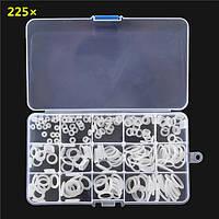 225pcs белый кондиционер уплотнительное кольцо резиновые кольца водонепроницаемой шайбы