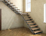 Каркас лестницы с поворотом 90 гр., фото 3