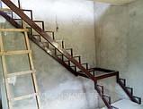 Каркас лестницы с поворотом 90 гр., фото 6