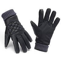 Мужчины термический кожа сенсорный экран перчатки для зимних видов спорта на открытом воздухе теплые перчатки мотоцикла