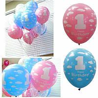 Девочка мальчик первый день рождения воздушными шарами первый год украшения день рождения