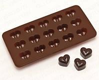 Силиконовая форма для шоколада и льда в виде сердца