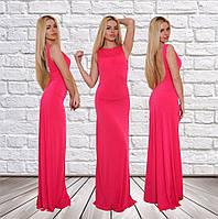 """Шикарное вечернее платье """"Melanya"""" с открытой спиной и свободной юбкой в пол (3 цвета)"""