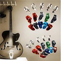 15pcs нержавеющей стали целлулоида палец палец гитара выбирает медиатором случай