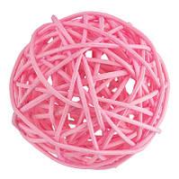 Шары из ротанга светло-розовые 4 шт. D-15 см. 8898 Цена за упаковку, фото 1
