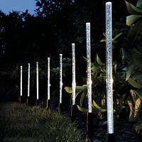 Солнечная энергия акриловой пузырь белый LED свет сада газон пейзаж декоративные лампы
