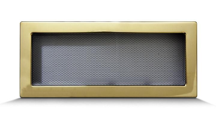 Решетка каминная 17х40 золото, вентиляционная для камина, декоративная