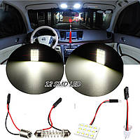 T10 BA9S 12 СМД LED купола автомобиля внутреннее освещение лампа для чтения панель ксенон белый