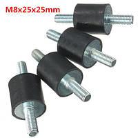 4шт m8x25x25mm резиновый амортизатор двойники концы резиновые опоры виброизолятором опоры
