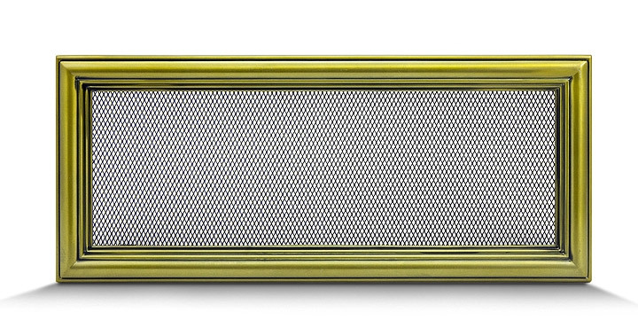 Решетка каминная 17х40 ретро, вентиляционная для камина, декоративная